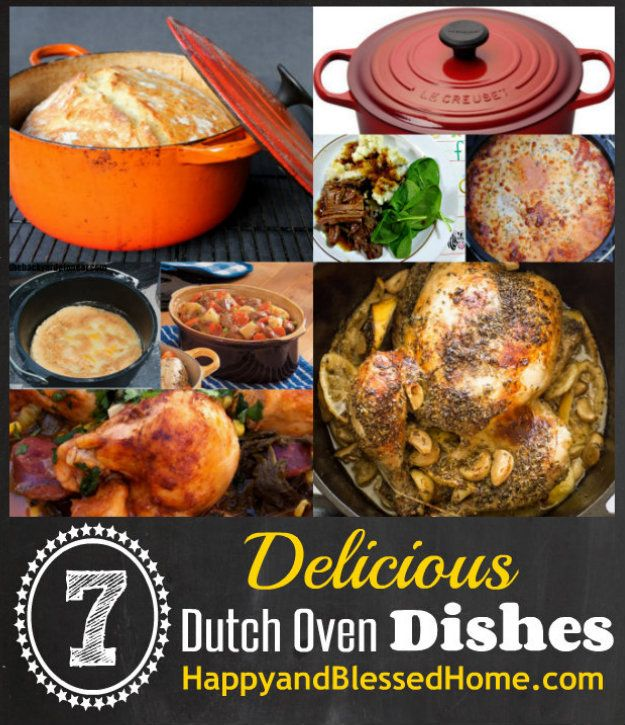 7 Delicious Dutch Oven Recipes & WIN $500 in Kitchen Gear from HappyandBlessedHome.com