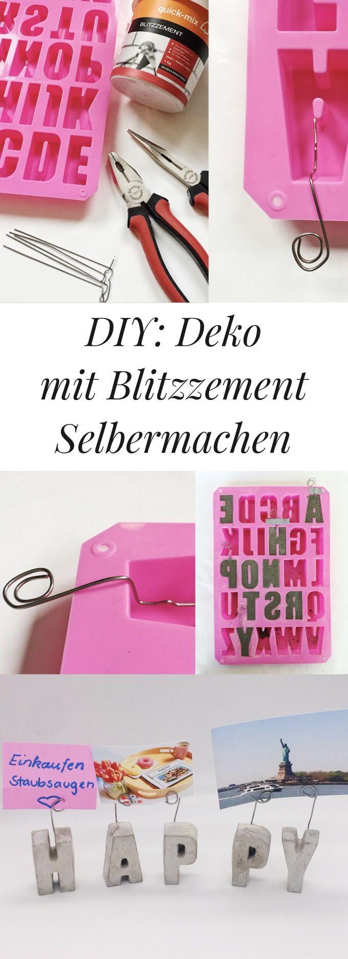DIY: Deko selbst basteln. Coole Bastel Idee mit Beton oder Blitzzement.