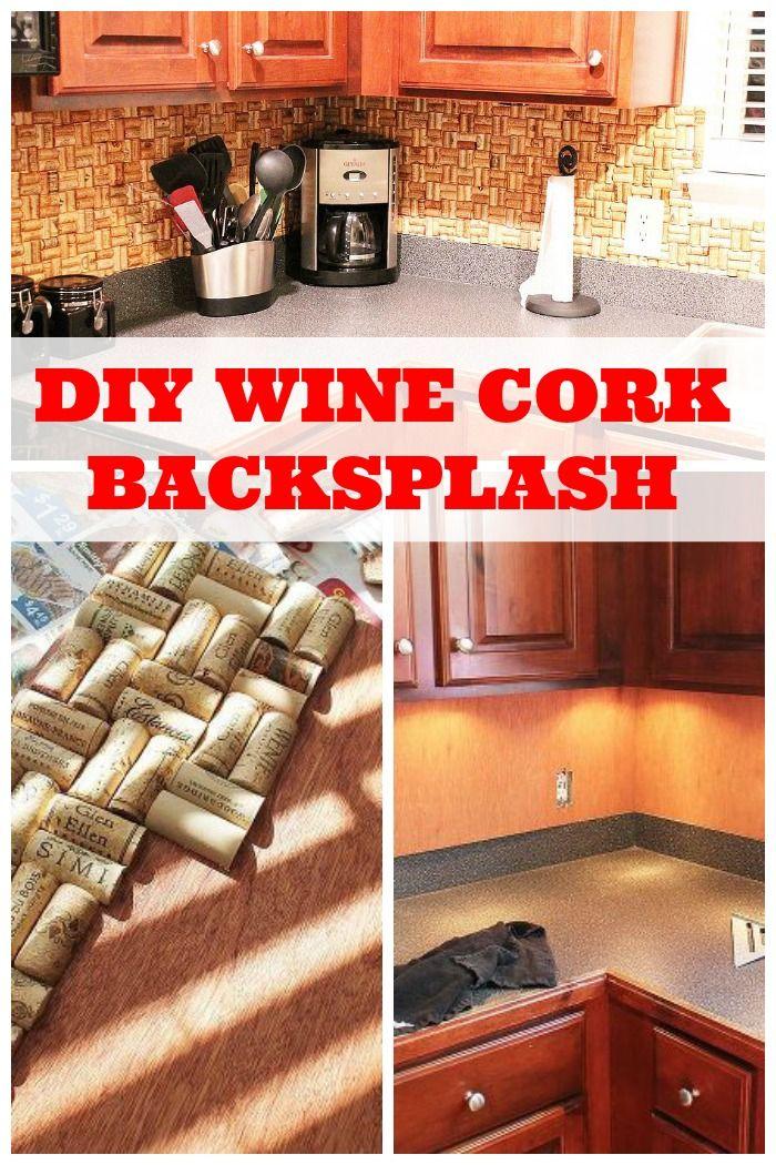diy wine cork backsplash just means i need to drink more