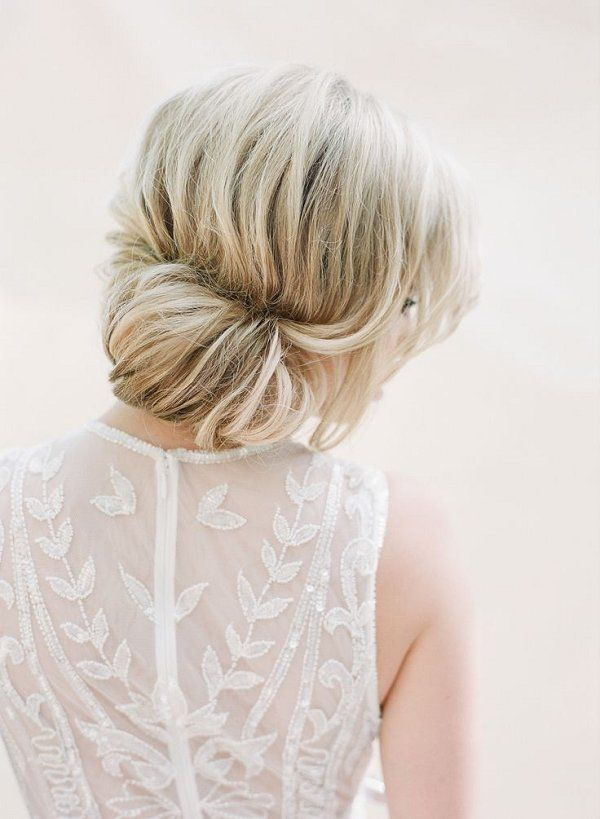 simple wedding chignon hairstyle