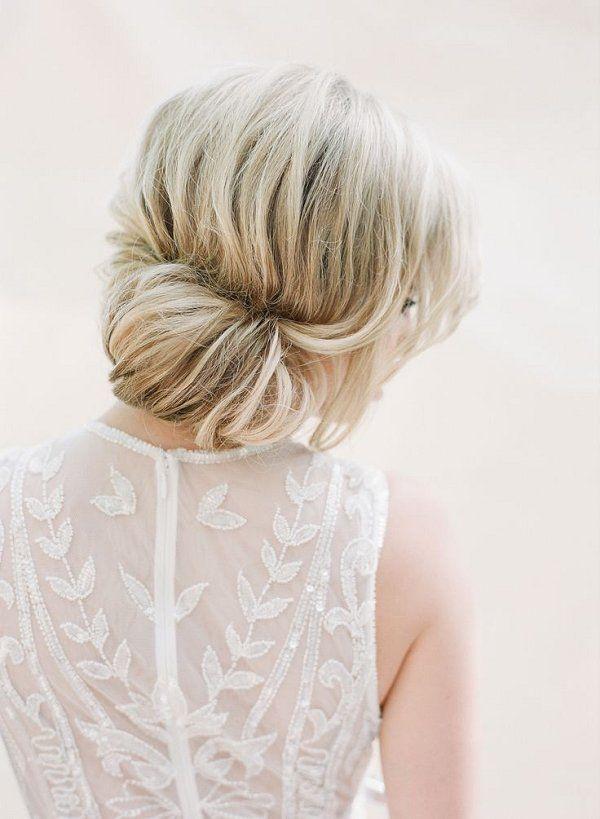 simple wedding chignon hairstyle