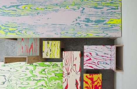 Graffiti Wood-Grain Furnishings - The ColoRing Furniture Collection by Jo Nagasaka is Comic-Inspired (GALLERY)