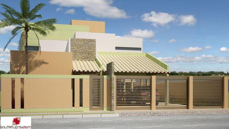 Fachadas de casas modernas com grade inspiraci n de - Diseno de interiores de casas modernas ...