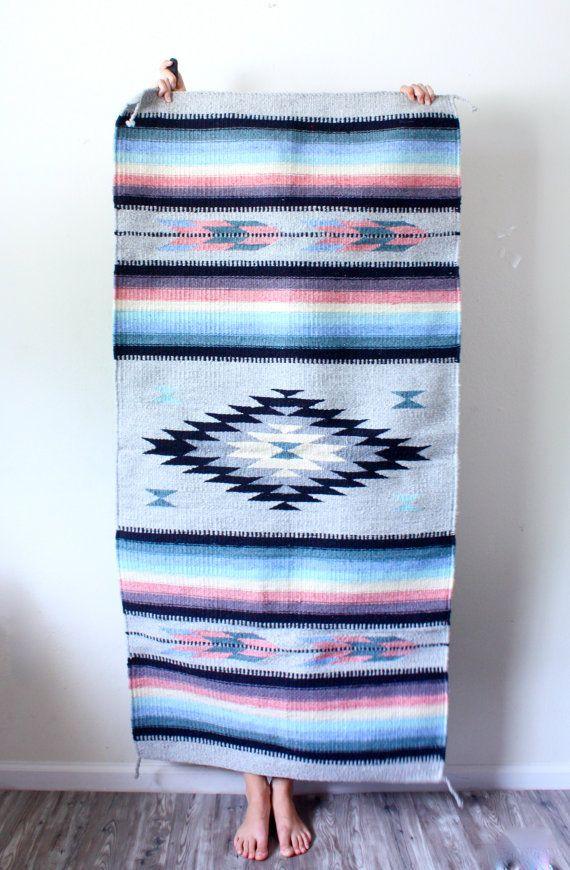 Vintage // southwestern rug // bohemian aztec by BeigeVintageCo