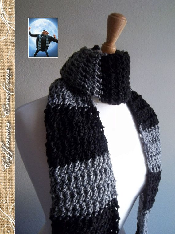Hey, I found this really awesome Etsy listing at https://www.etsy.com/listing/164284567/gru-scarf-inspired-by-despicable-me