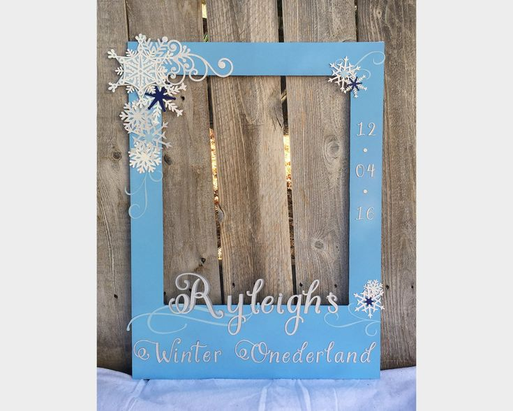 Giant Photo Prop Frame For First Birthday Winter