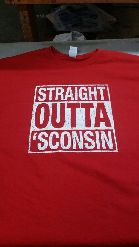 Wisconsin Badgers Straight Outta 'Sconsin by WisconsinMade on Etsy