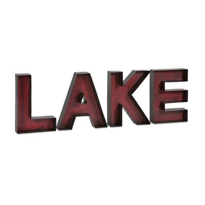 Imax Lake Metal Wall Letter 4 Piece Set