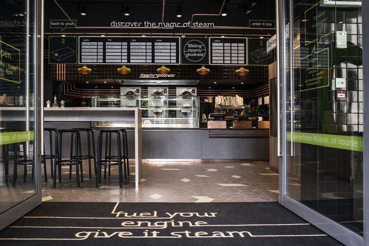 That s vapore restaurant by caulder moore london uk for Retail interior designers in london