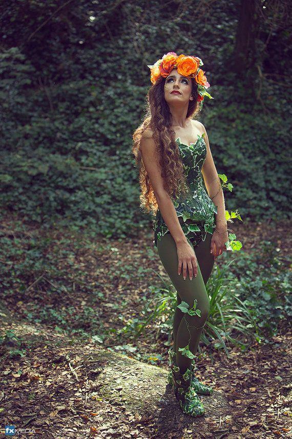 Orange garland flower hair accessory. Handmade by LyndseyBoutique