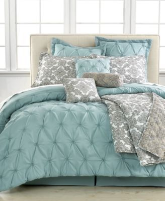 Jasmine Blue 10 Piece Full Comforter Set - Bed in a Bag - Bed & Bath - Macy's
