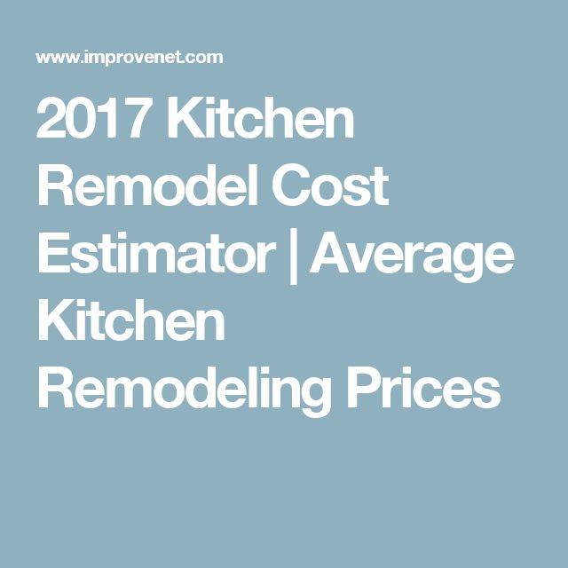 2017 Kitchen Remodel Cost Estimator | Average Kitchen Remodeling Prices