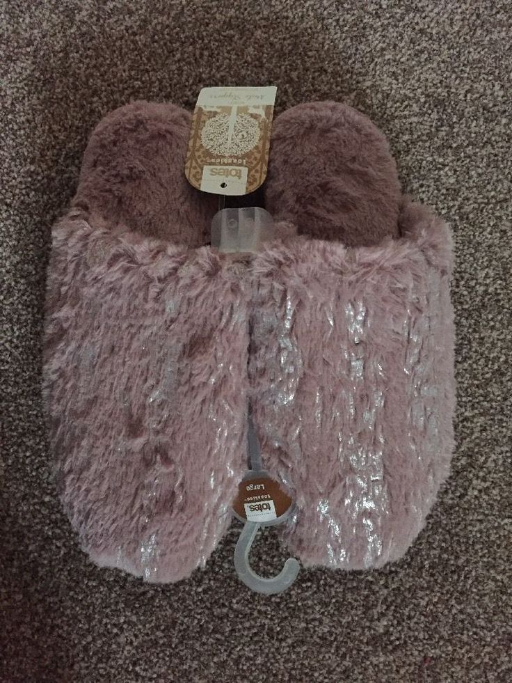 TOTES ladies Mule slippers With Durable Sole size Large UK7-8 EU41-42 BNWT Pink