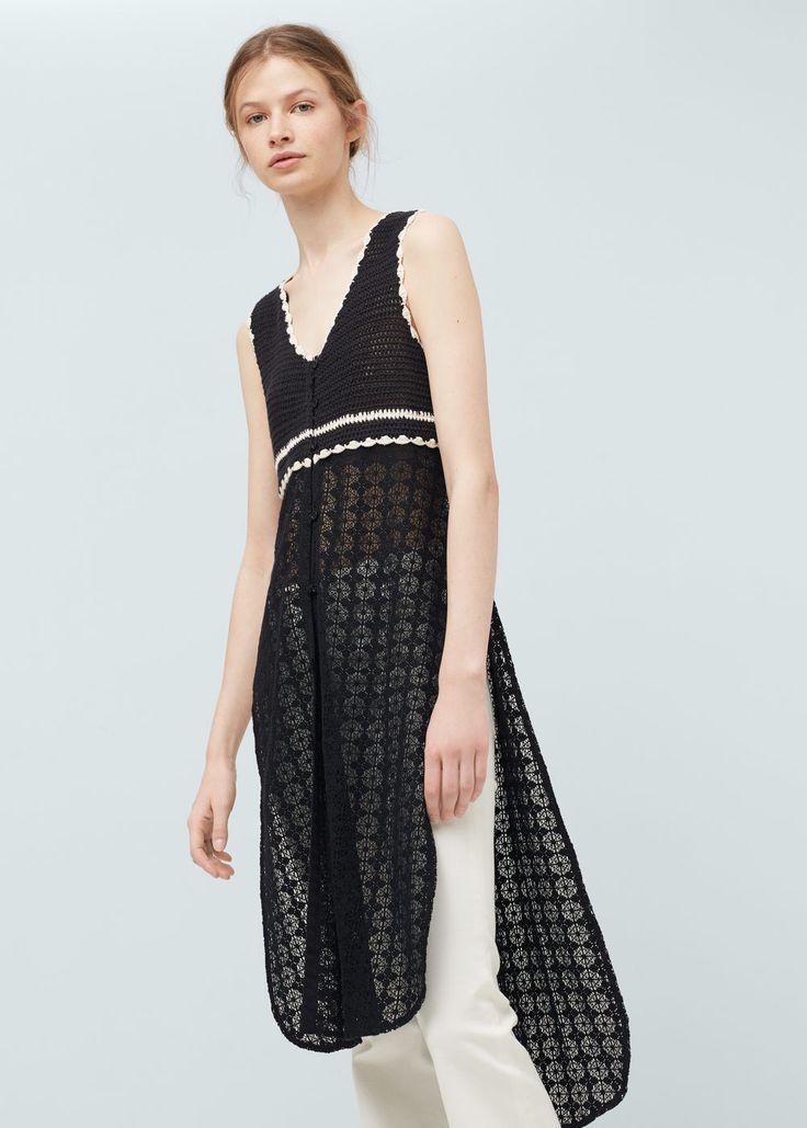 Crochet cotton dress | MANGO