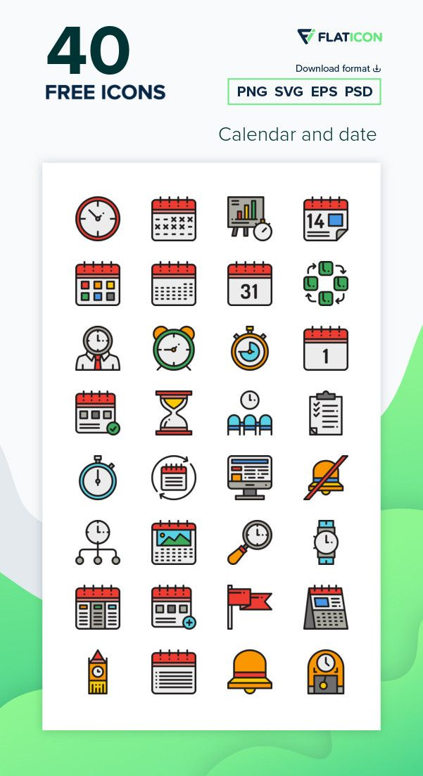 40 Free Vector Icons Of Calendar And Date Designed By Freepik Time Icon Calendar Icon Calendar