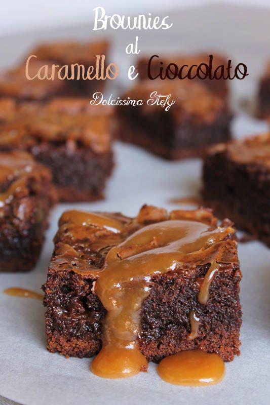Brownies al Caramello e Cioccolato