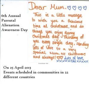 April 25th is Annual Parental Alienation #Awareness Day!