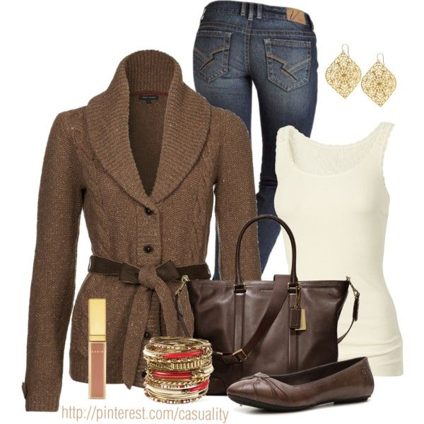 2016d94dc900 Kennedy Bootcut 5 Pocket Jeans + Fat Face Lace Plain Vest + Tommy Hilfiger  PRESTON Cardigan + Coach Bleecker Legacy Business Tote In Leather + Born  Women s ...