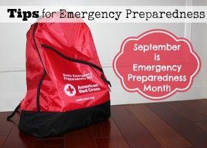 Tips for Emergency Preparedness ~ National Preparedness Month #emergency #prepper