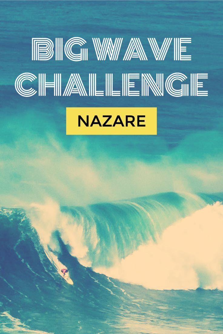 Irre Surfer bei der Nazaré Big Wave Challenge! #Nazare #BigWaves #Surfing #Portugal