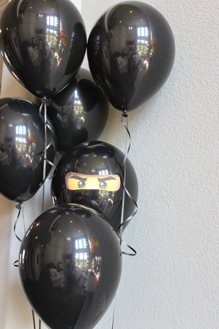 Ninja themed birthday party with Lots of Really Cute Ideas via Kara's Party Ideas | Cake, decor, cupcakes, games and more! KarasPartyIdeas.com #ninjaparty #ninjas #partyplanning #partydecor #partyideas (11)