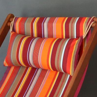 Head Rest for Deckchair | St. vincent rouge sunbrella