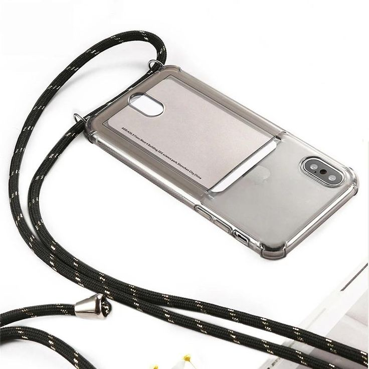 Id cardholder phone case with lanyard id clear case for