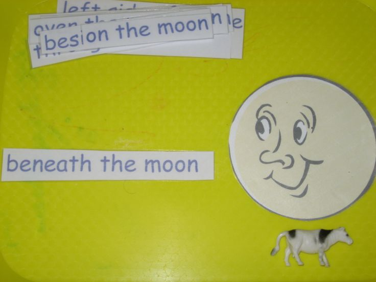 Positional word activity to use in conjunction with night/day, Goodnight Moon or nursery rhymes