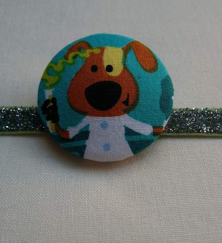 Dog Scientist Button Bobble Hair Tie             Very cute dog!  Artisan made in beautiful Byron Bay Australia. www.jularoo.com