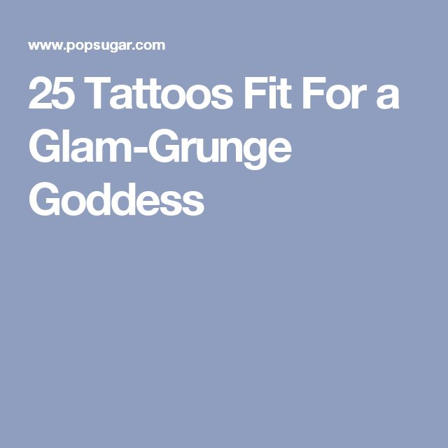 25 Tattoos Fit For a Glam-Grunge Goddess