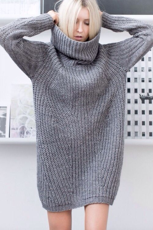 Platonic ideal of the cozy gray sweater, a.k.a. what I always attempt and never achieve when I knit.