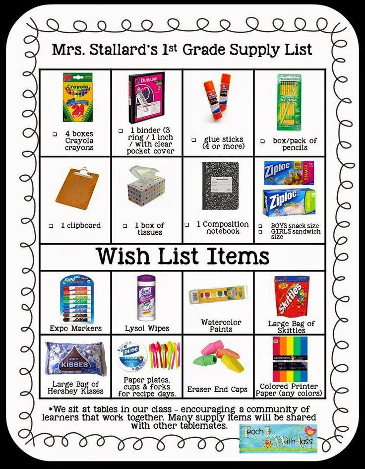 25  best ideas about supply list on pinterest