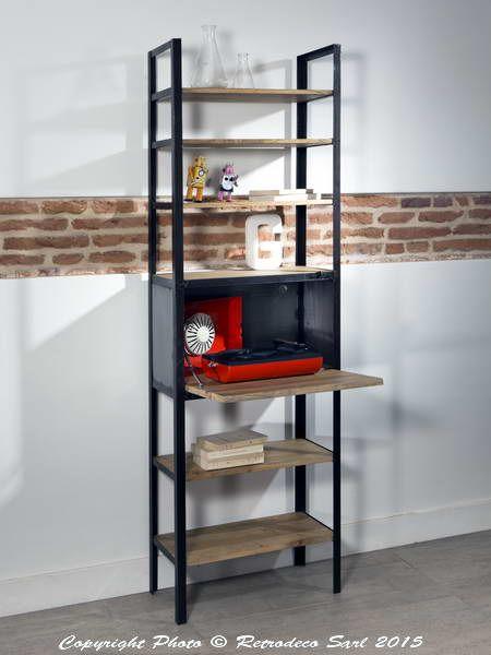 25 best ideas about etagere bois et metal on pinterest biblioth que en m tal equerre etagere. Black Bedroom Furniture Sets. Home Design Ideas