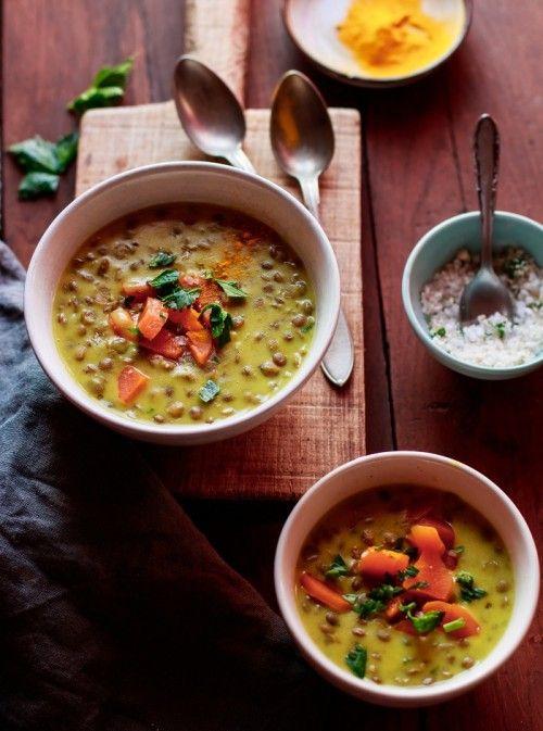 Currys lencseleves recept
