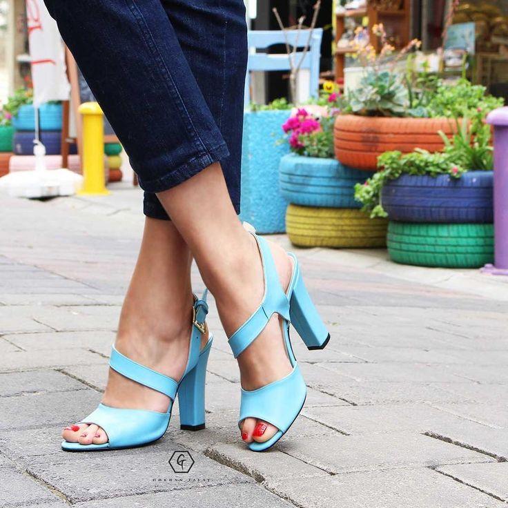 """396 Beğenme, 10 Yorum - Instagram'da Ayakkabı modasına dair herşey! (@gokhantalay): """"Geçen yazdan en çok istediklerin yeniden geliyor✌Sweety açık mavi 7,5 cm topuğuyla yeniden…"""""""