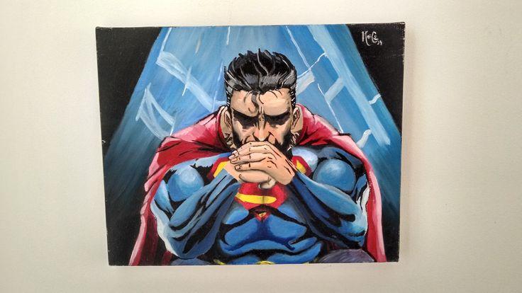 Superman en óleo para coleccionistas. ML Comics! Nos vemos en el Comic Con 2014 en Medellín!