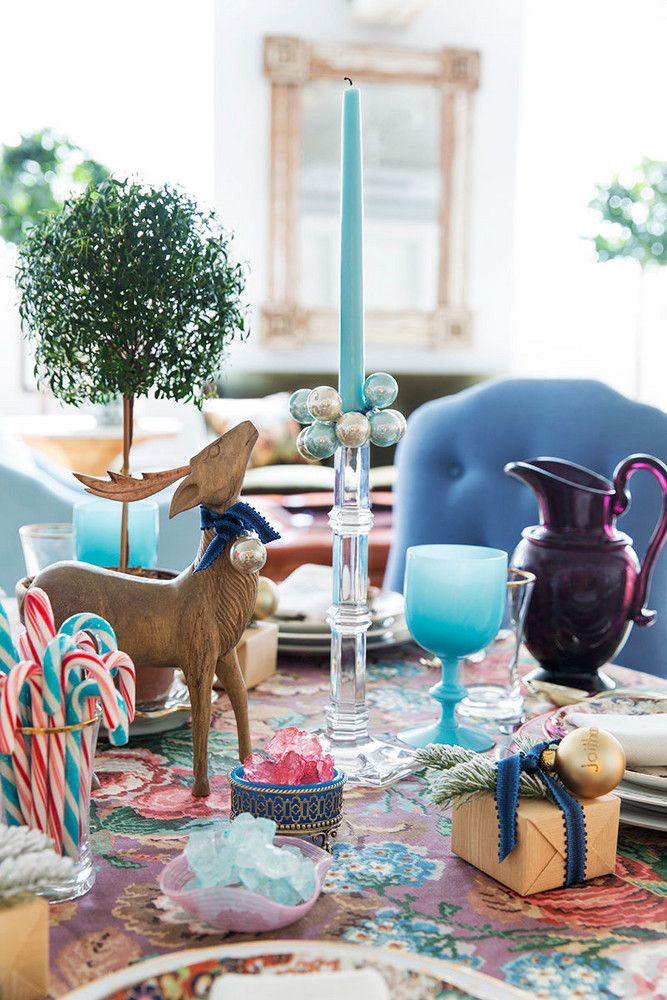 Teal Christmas decorations, light turquoise, Sherwin Williams Reflecting Pool, blue-green