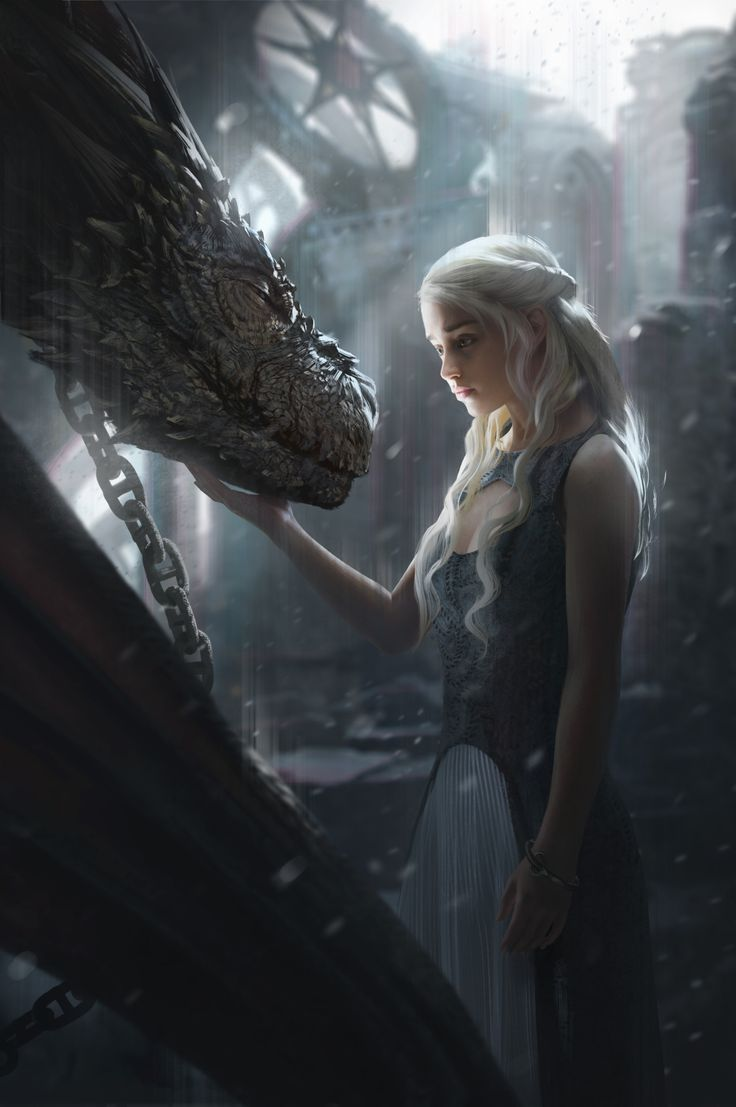 "theamazingdigitalart: ""  Daenerys by G-host Lee The Art of George R. R. Martin's A Song of Ice and Fire """