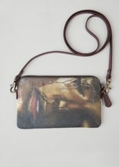VIDA Leather Statement Clutch - 4 Happyflower Aqua clutch by VIDA 1B4eLBrLQ