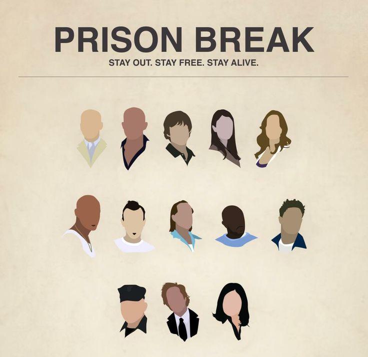 Prison Break: Michael, Lincoln, LJ, Veronica, Sara, Sucre, T-Bag, John Abruzzi, C-Note, Tweener, Belick, Mahone, Gretchen.