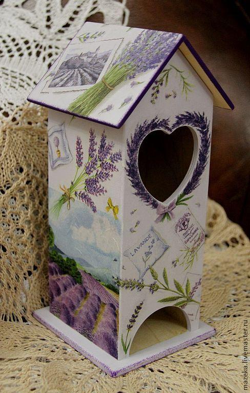 Купить Чайный домик Прованс - бледно-сиреневый, чайный домик, чай, чайный домик декупаж