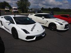 Lamborghini i Nissan GTR na torze w Ułężu!