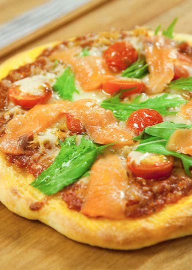 しらすとサーモンのピッツァ のレシピ・作り方 │ABCクッキングスタジオのレシピ | 料理教室・スクールならABCクッキングスタジオ