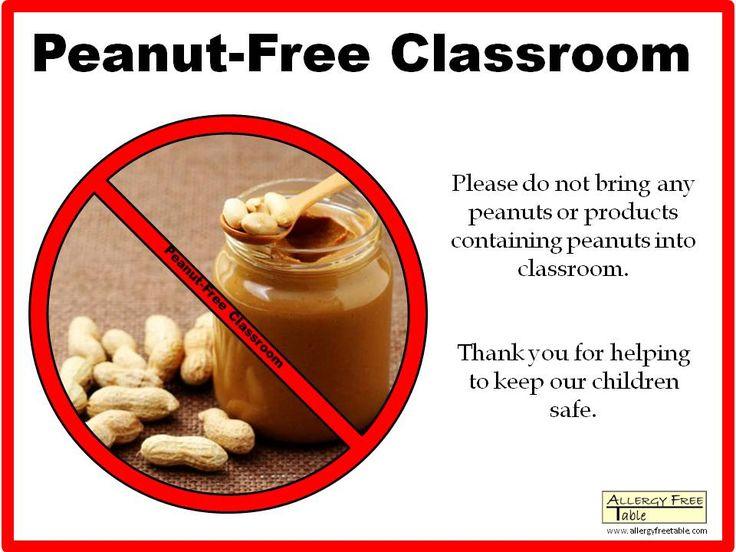 Peanut-free Classroom Poster