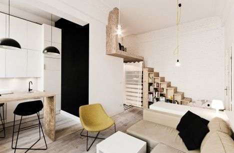 29sqm Apartment Features Space-Saving Stairs & Loft Bed