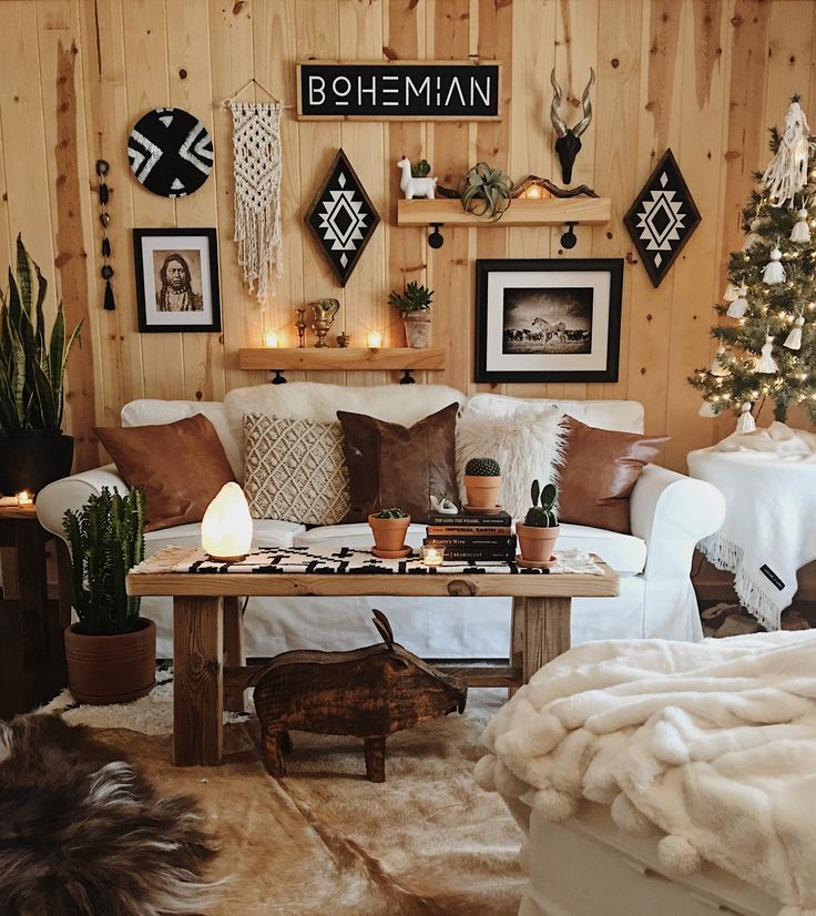 Boho Christmas Cabin Cabin Decor Pinterest Cabin