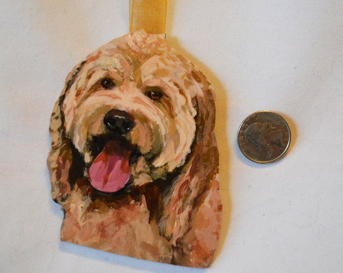 Cockapoo Cocker Poodle Mix Dog Ornament for Christmas or Gift by Alison Vernon | eBay
