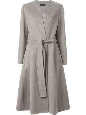 Длинные пальто с поясом