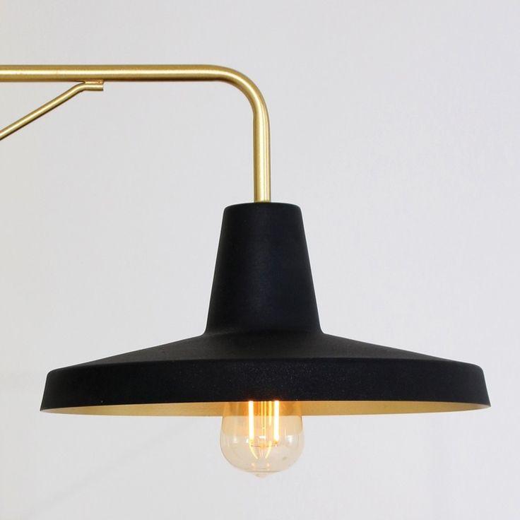 Steinhauer Studio Wall Light - Black and Gold - Lighting Direct