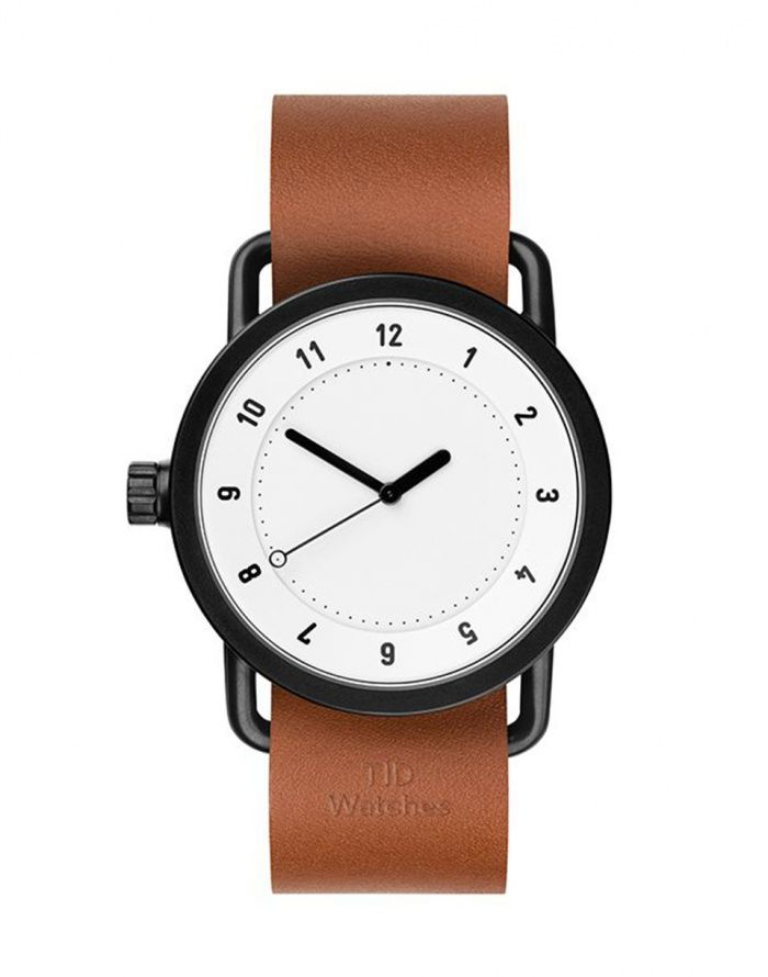 Hodinky - TID Watches - No.1. White + Tan Leather